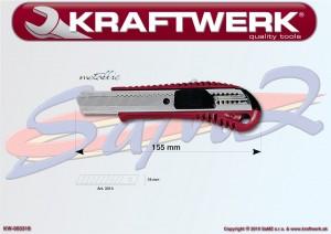 Nôž odlamovací 18 mm Kraftwerk METALLIC 3318