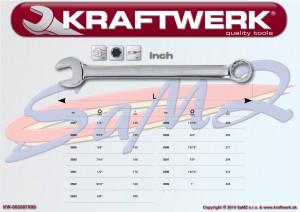 """Kombinovaný kľúč 3/8"""" Kraftwerk 3589 (PALCOVÝ ROZMER)"""