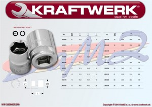 """Gola 3/8"""" nadstavec (orech) 16 mm Kraftwerk 200160"""